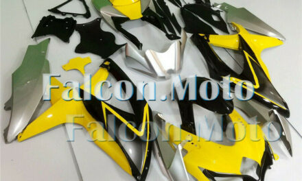 Fit for GSXR 600 750 2008-2010 Yellow Silver Black Injection Bodywork Fairing GE
