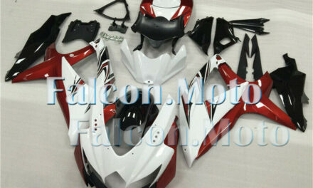 Red White Black Injection Mold Fairing Plastic Fit for GSXR 600 750 K8 2008-2010