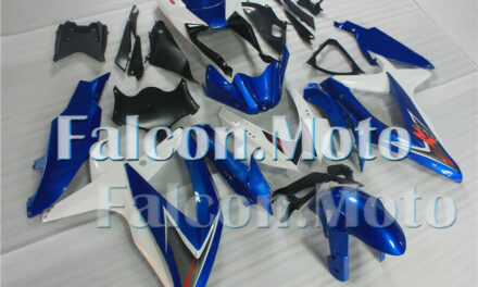 New Fairing Fit for GSXR 600 750 K8 2008 2009 2010 Blue White ABS Injection Mold