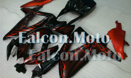 New Red Flames Black Injection Plastic Fairing Fit for GSXR 600 750 K8 2008-2010
