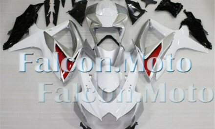 New Silver White Black Injection Plastic Fairing Fit for GSX-R 600 750 2008-2010