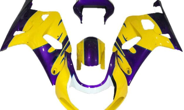 SCB Injection Mold Yellow Fairing Kit Fit for Suzuki 2001-03 GSXR 600 750 n009