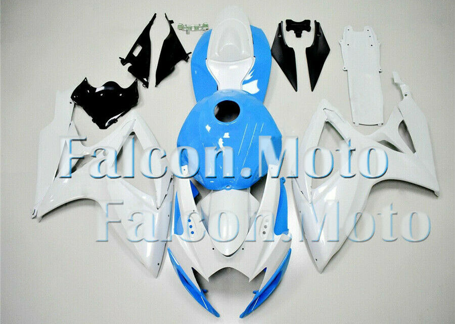 White Blue Fairing Fit for GSXR 600/750 2006 2007 New ABS Plastic Injection mold