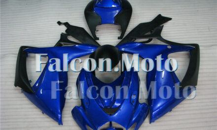 Injection Mold ABS Plastic Fairing Set Fit for 2006-2007 GSXR 600 750 Blue Black