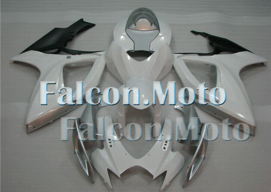 White Silver Black ABS Injection Bodywork Fairing Kit Fit for GSXR 600/750 06 07