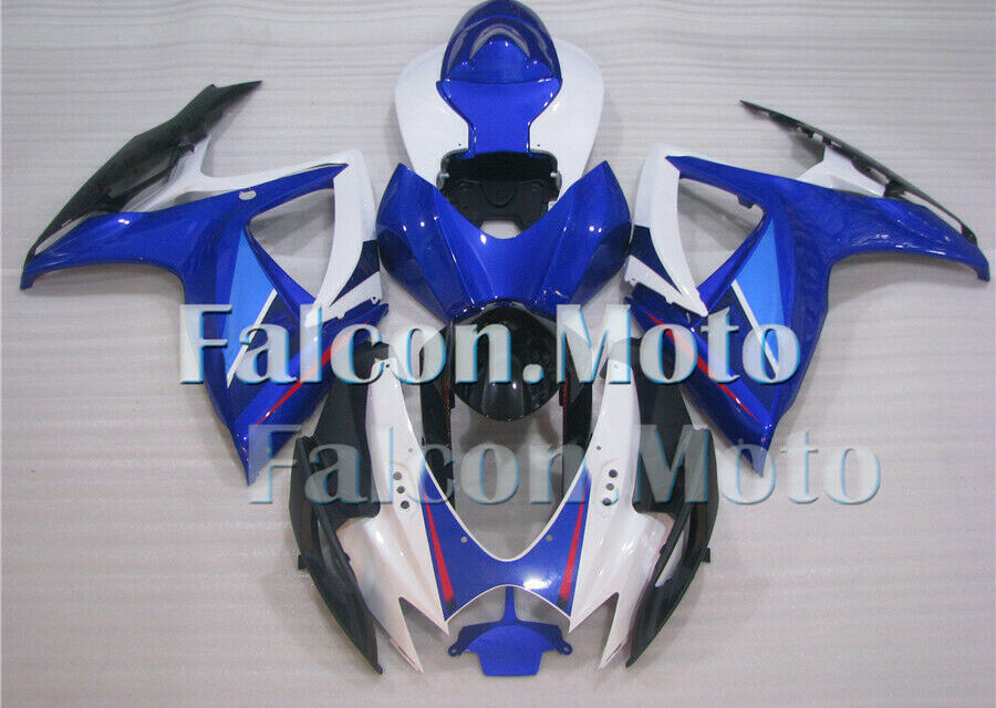 Blue White ABS Injection Bodywork Fairing Kit Fit for GSXR 600/750 2006 2007 oAY