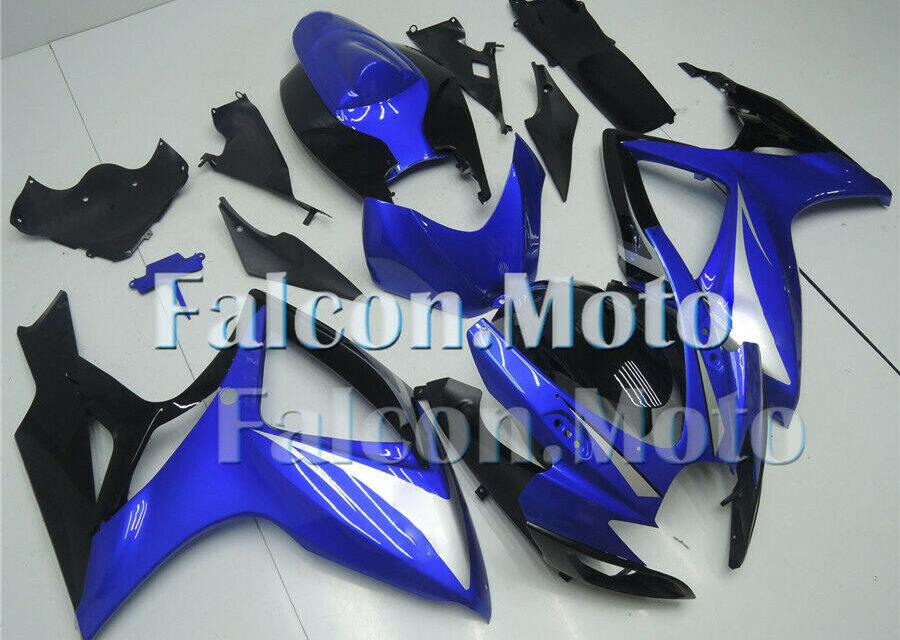 Fairing Injection Black Blue Fit for 2006-2007 GSXR GSX-R 600 750 K6 ABS New aBS