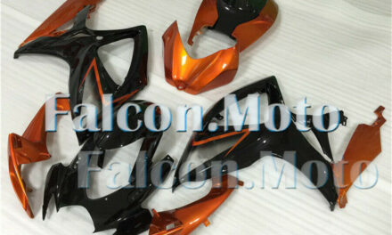 Orange Black Complete Fairing Fit for 2006-2007 GSXR 600 750 K6 Injection ABS AX