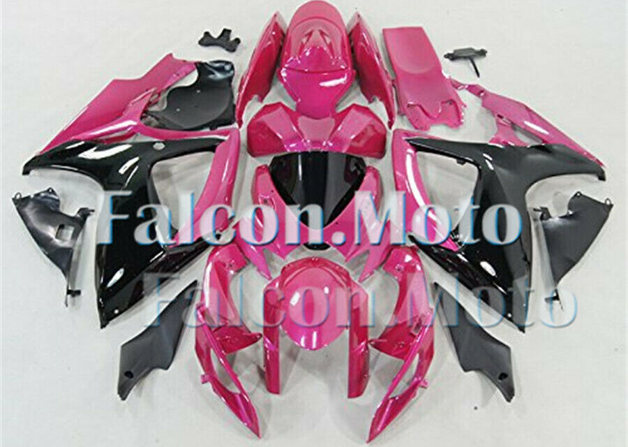 Black Pink Fairing Fit for 2006 2007 GSXR 600 750 K6 06-07 Injection Plastic aHC