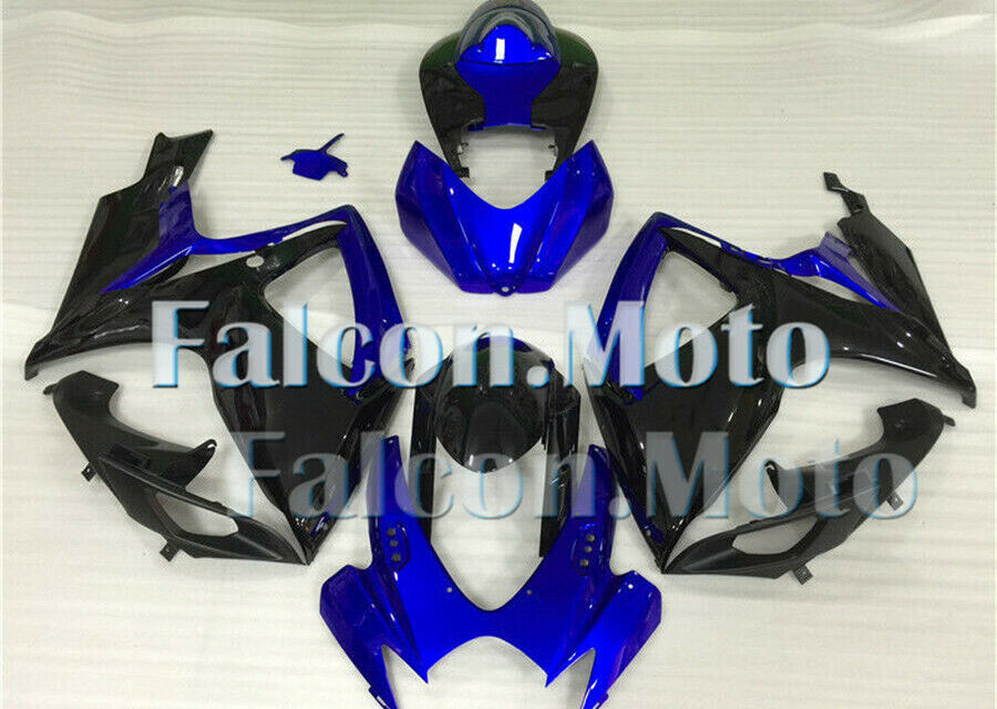 Blue Black Complete Fairing Fit for 2006-2007 GSXR 600 750 K6 Injection ABS Mold