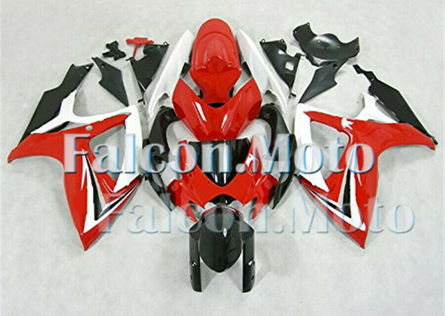 Injection fairings kit Fit for 2006-2007 GSXR 600 750 K6 ABS Red Black White aHM