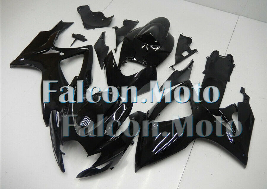 Glossy Black Injection Body Kit Fairing Fit for GSX-R 600 750 2006 2007 K6 Mold
