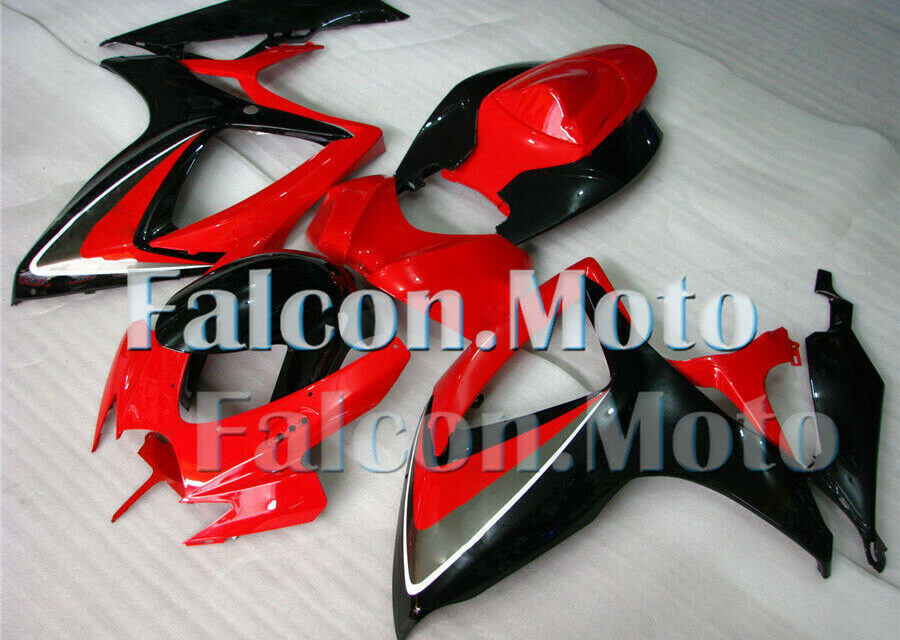 Complete Injection Red Black Fairing Fit for 2006 2007 GSXR GSX-R 600 750 K6 aFF