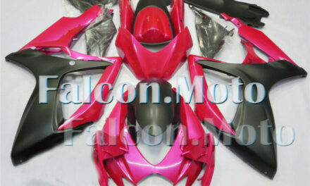 Pink Matte Black Injection ABS Plastic Fairing Fit for 06-07 GSXR 600 750 K6 aBA