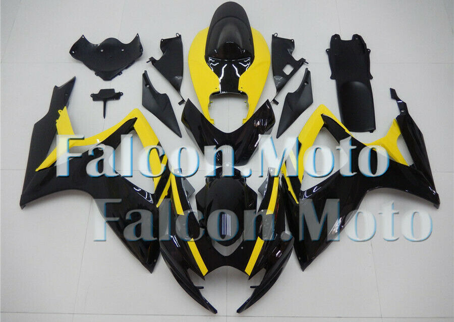 Black Yellow Complete Injection ABS Fairing Fit for 2006 2007 GSX-R 600 750 K6