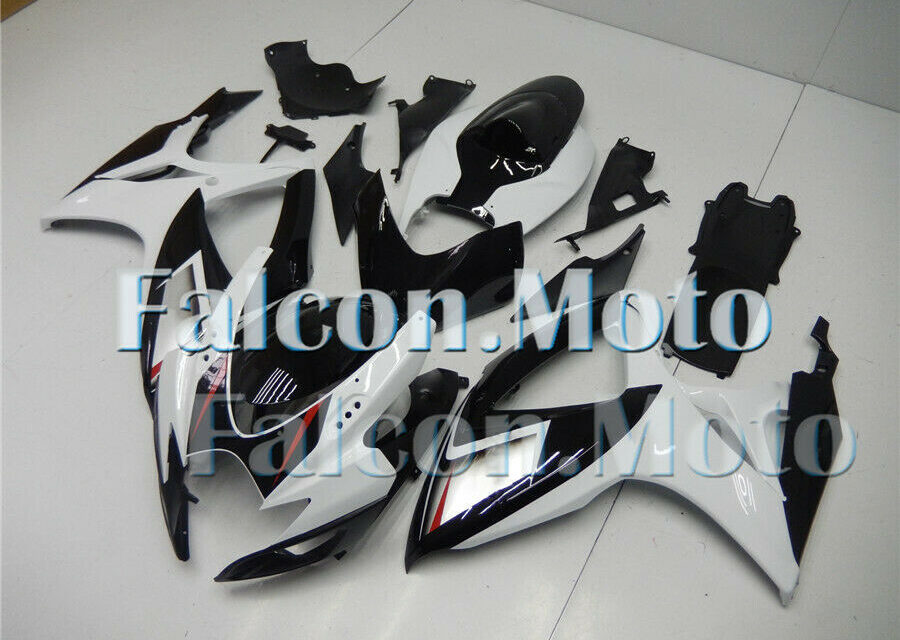 Black White Injection Molding Fairing Fit for K6 GSX-R 600 750 2006 2007 ABS aFE