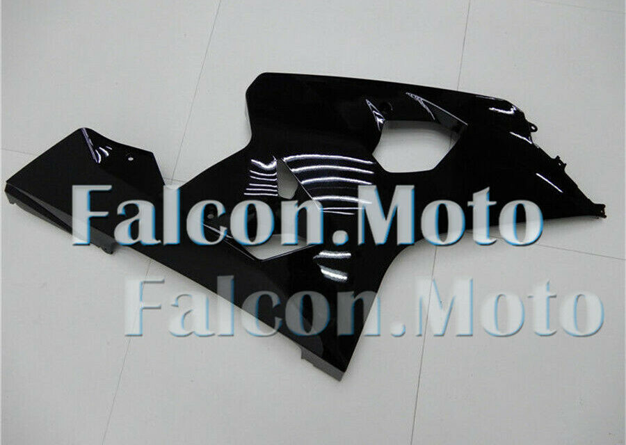 Right Side Fairing for Suzuki GSX-R 600 750 04-05 K4 Glossy Black Injection ABS