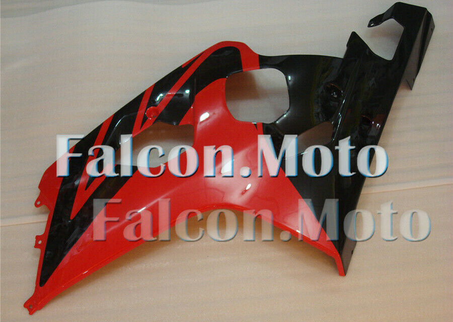 Red Black Injection Left Side Fairing Fit for Suzuki GSX-R 600 750 2004-2005 aAM