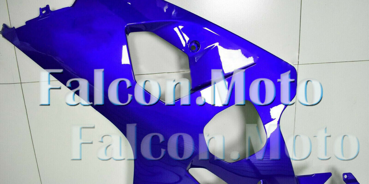 New Blue Left Side Fairing Fit for 04-05 GSXR 600 750 2004-2005 K4 Injection aBA