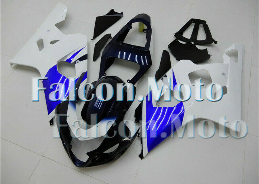 Blue White Fairing Fit for 2004 2005 GSXR 600 750 K4 Injection Mold ABS Plastics