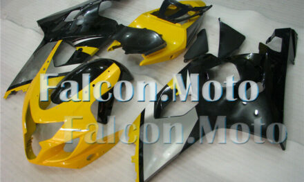 Fairing Fit for GSXR 600 750 K4 2004 2005 Mold Plastic Injection Yellow Black IJ