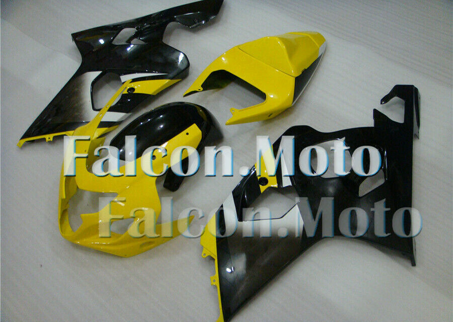 Injection Yellow Black Fairing For  04-05 GSXR 600 GSXR 750 2004-2005 aEX