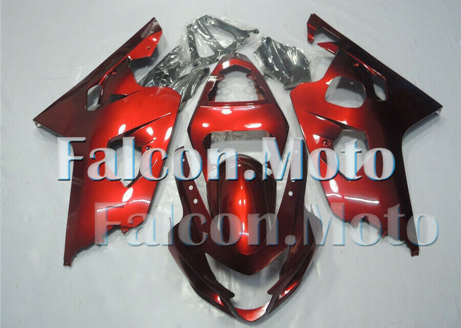 Red Fairing Fit for 04-05 GSXR 600 750 K4 2004 2005 Plastic Injection Molded aFI