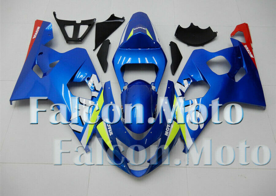 Blue Injection Fairing Kit Fit for GSXR 600 750 04 K4 2004 2005 Plastics ABS uCW