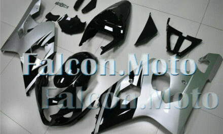 Silver Black Injection Fairing Fit for 2004 2005 GSXR 600 750 K4 Plastic ABS aIC