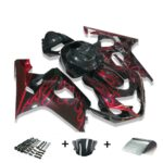 CC Black Red Injection Fairing Kits Fit for Suzuki 2004-2005 GSXR 600 750 o017