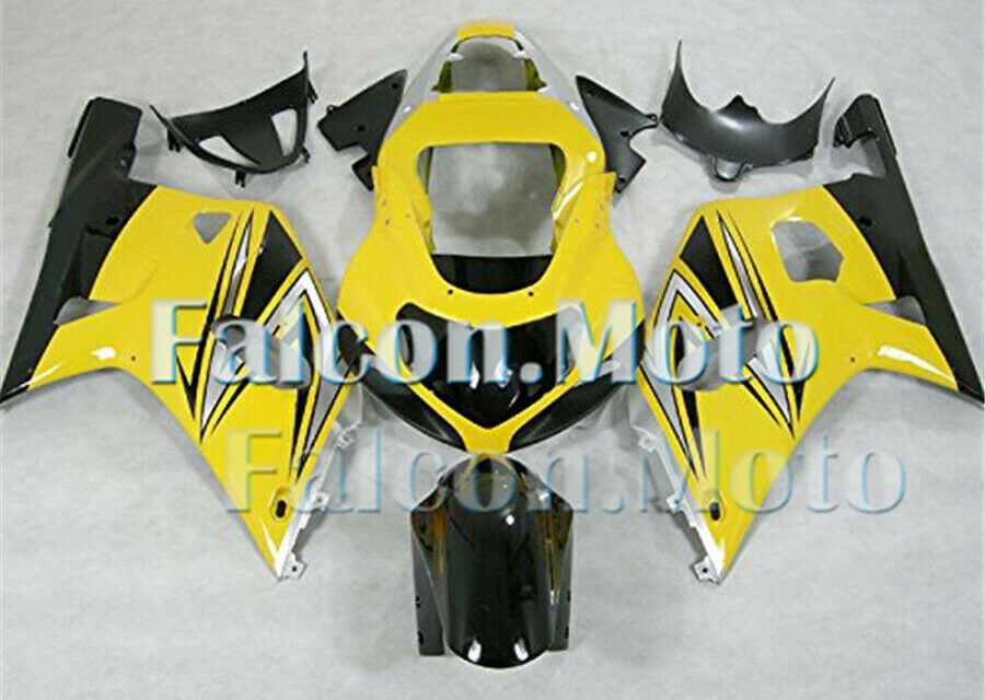 Fairing Plastic Injection Black Yellow Silver Fit for 2001-2003 GSXR 600 750 aFI