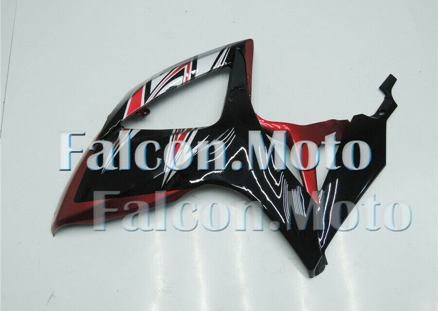 Pearl Red Black Injection Left Side Fairing for GSX-R 600 750 2006-2007 K6 aBG