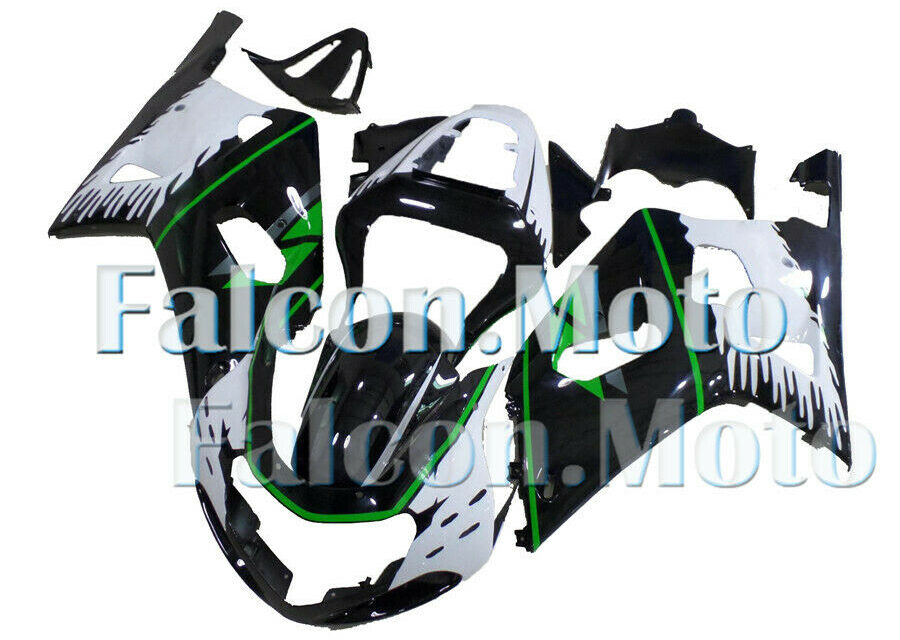 Green Black White ABS Injection Fairing Fit for GSXR 600/750 2001-2003 01 K1 aDC