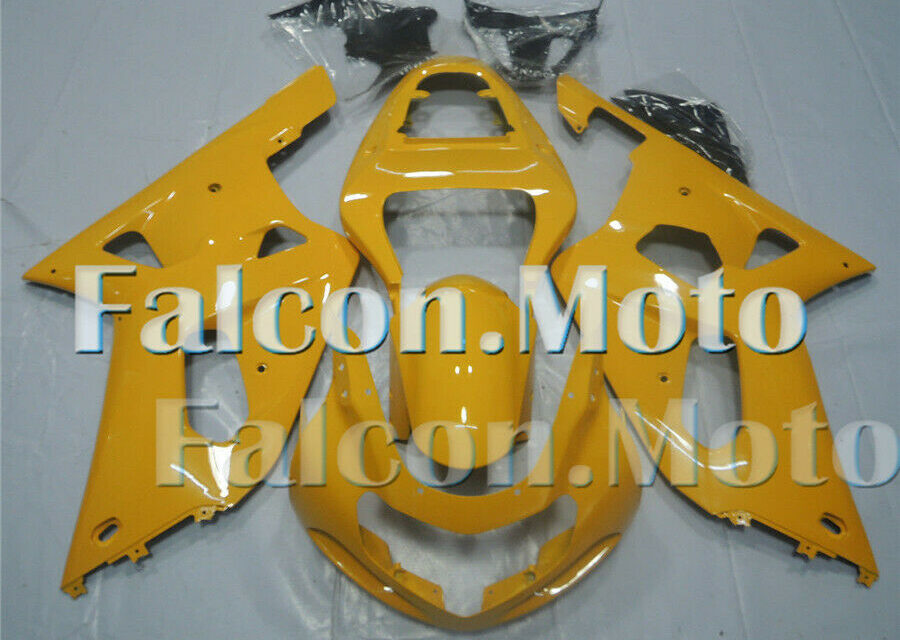 Fairing Fit for 2001-2003 GSXR 600 750 01 02 03 K1 Plastic Injection Yellow aFB
