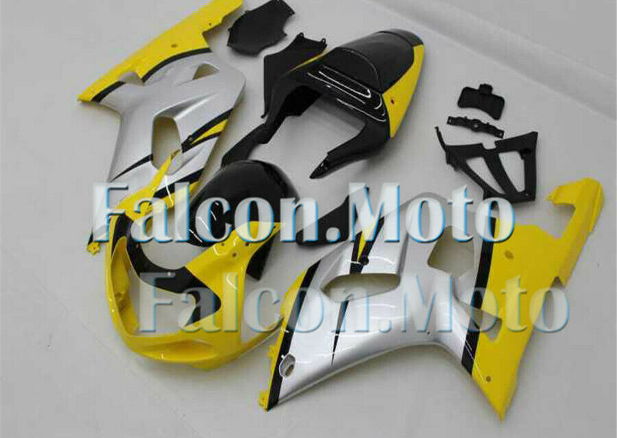 Silver Yellow Black Injection Mold Fairing Fit for 2001-2003 GSXR 600 750 K1 iBN