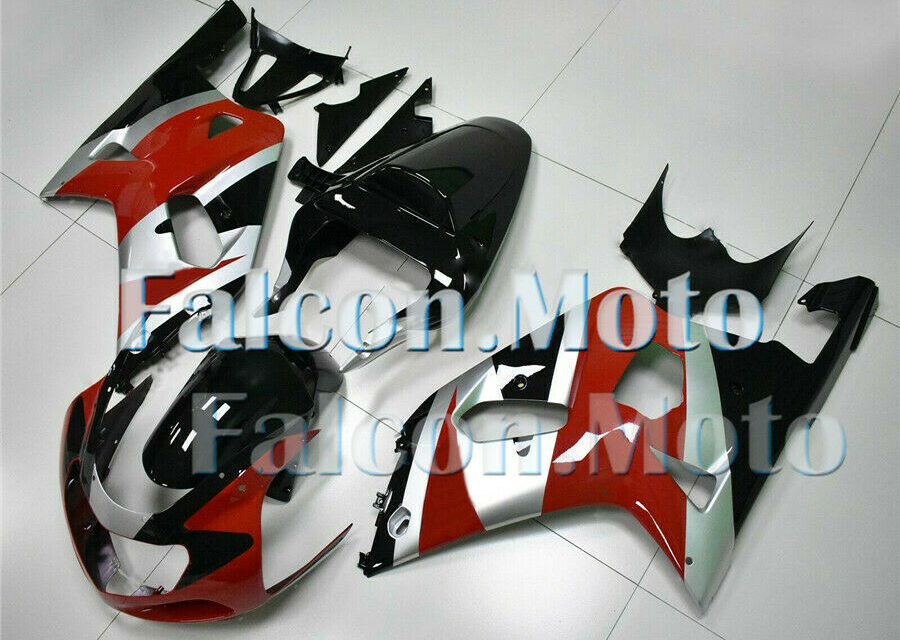 New Silver Black Red Injection Kit Fairing Fit for 2001-2003 GSXR 600/750 K1 aEM