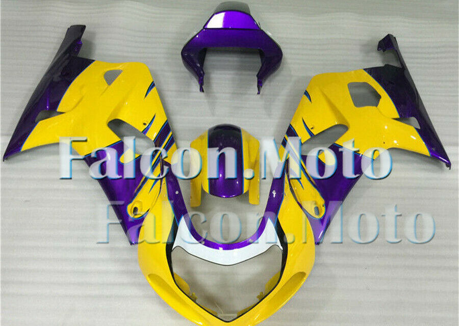 White Purple Yellow Fairing Fit for GSXR 600 750 K1 2001-2003 Plastics Injection