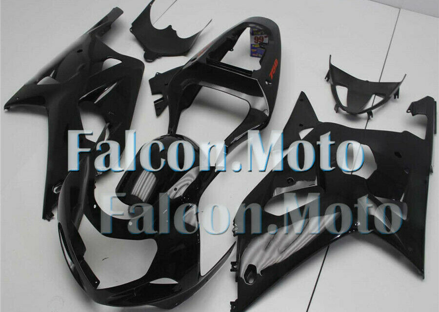 New Gloss Black Fairing Fit for 2001 2002 2003 GSXR 600 750 K1 Injection ABS iEO
