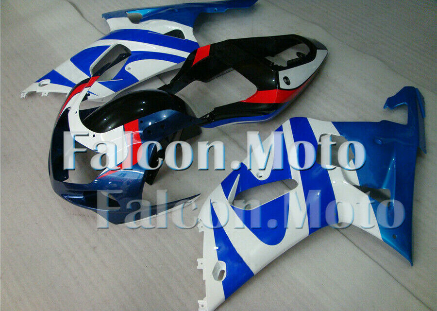 Blue White Injection Mold Fairing Kit Bodywork Fit for 2001-2003 GSXR 600 750 CU