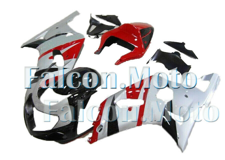 Silver Black Red Complete Injection Fairing Fit for 2001-2003 GSXR 600 750 K1 CD