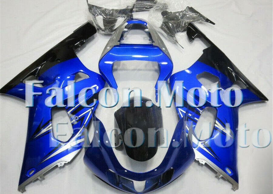 Silver Blue Black Fairing Fit for 01-03 GSXR600 GSXR750 K1 Injection Molded aGG