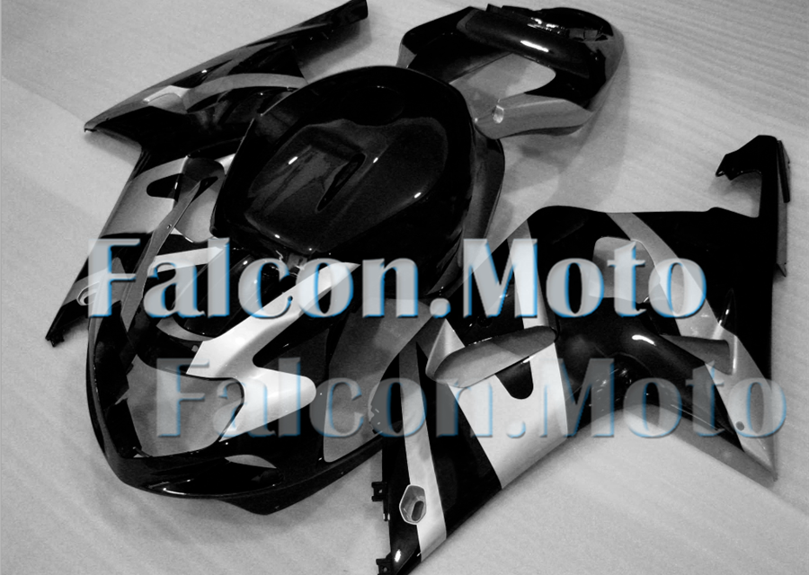 Silver Black Injection Plastics Fairing Fit for 2001-2003 GSXR 600 750 01 K1 iDH