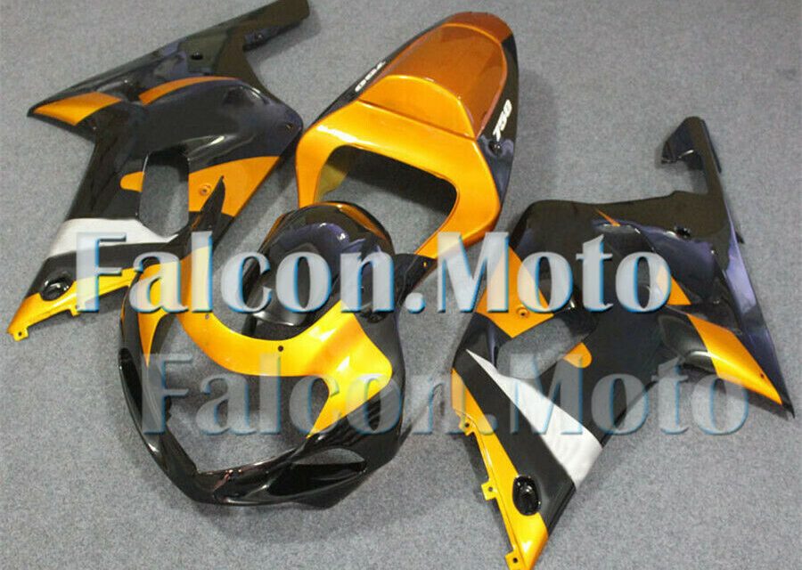 Black Gold ABS Injection Body Kit Fairing Fit for 01-03 GSXR 600 750 K1 Mold aAY