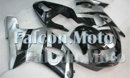 Fairing Fit for 2001-2003 GSX-R 600 750 01 K1 Plastic Injection Black Silver aFD