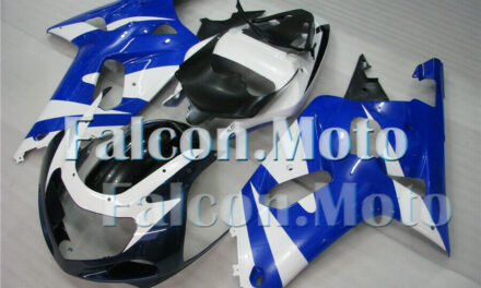 White Blue Fairing Fit for 2001 2002 2003 GSX-R 600 750 K1 Injection Molded iBC