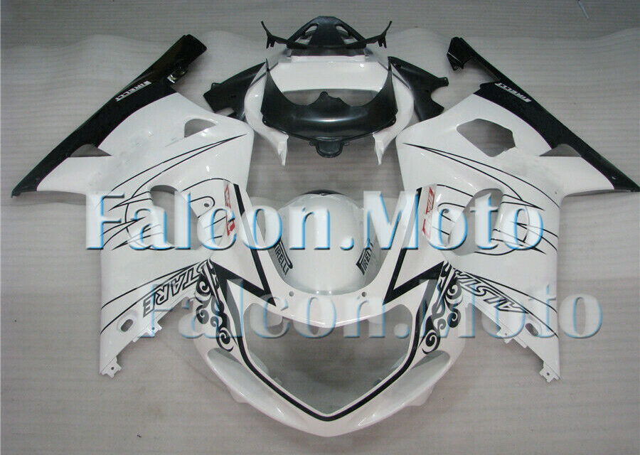 White Black Fairing Fit for 2001-2003 GSX-R 600 750 K1 ABS Injection Mold iBH
