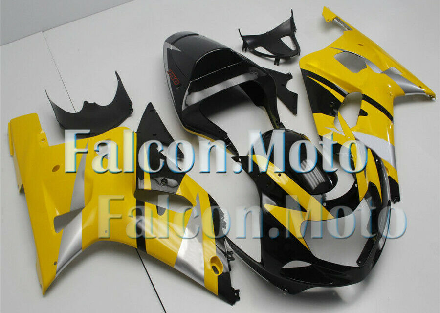 New Yellow Black Injection Body Kit Fairing Fit for 01-03 GSX-R 600 750 K1 Mold