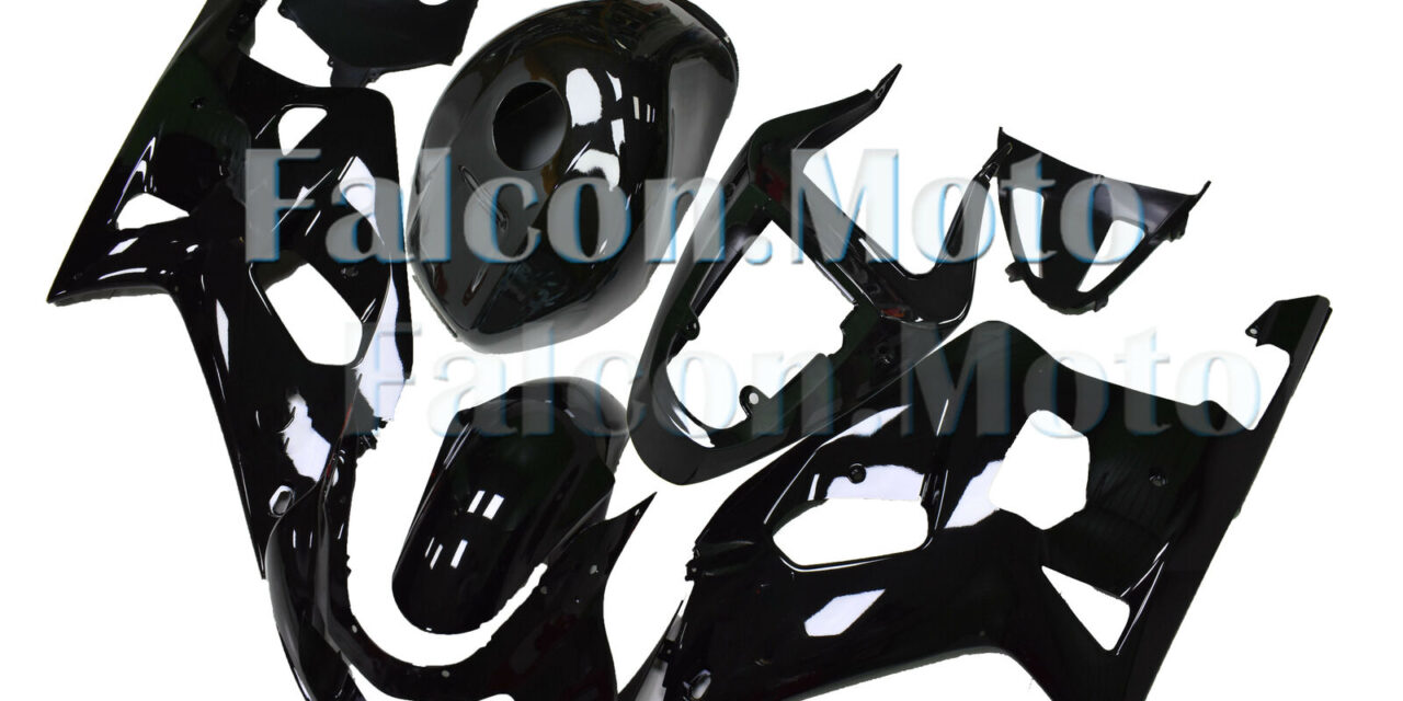 Glossy Black Injection Fairing Fit for 2001-2003 GSX-R 600 750 K1 ABS Mold aAF
