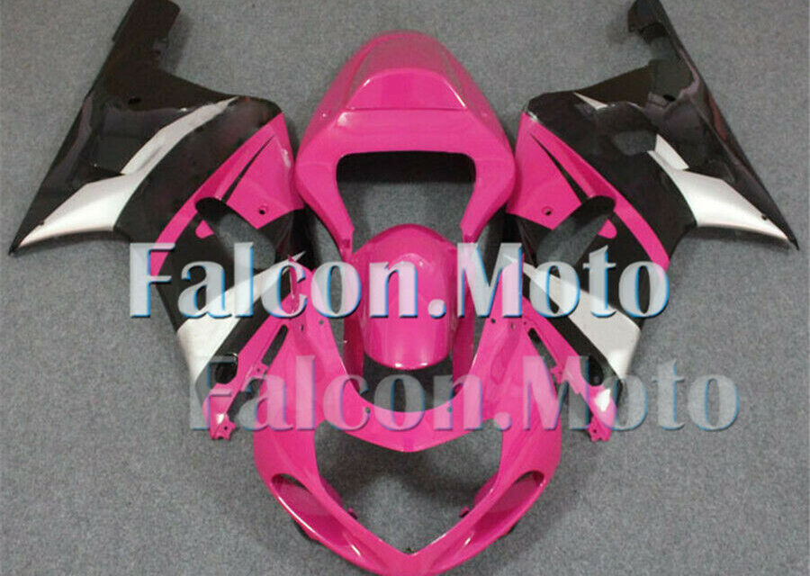 Pink Black Complete Fairing Fit for 2001-2003 GSX-R 600 750 K1 Injection ABS aGN