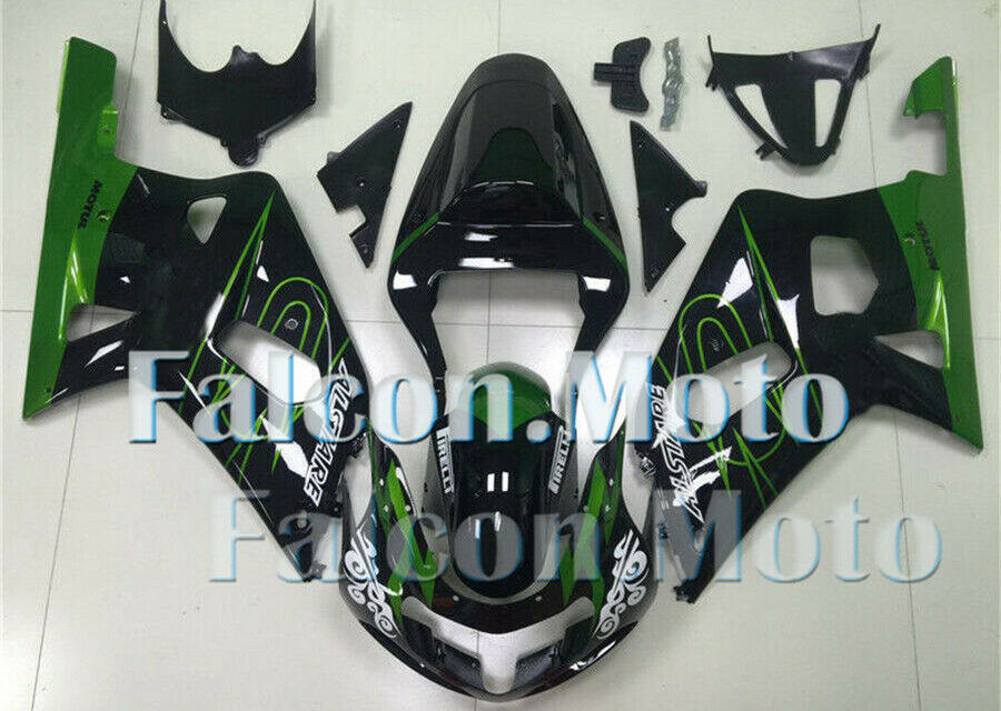 Green Black Injection ABS Plastic Fairing Fit for 2001-2003 GSX-R 600 750 K1 aAI